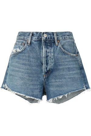AGOLDE Shorts de mezclilla con tiro alto