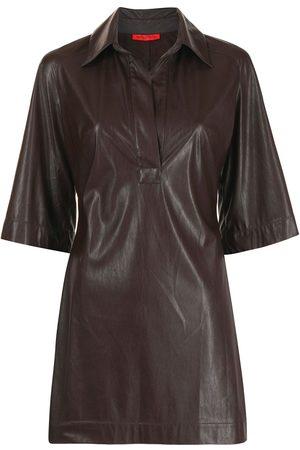 Manning Cartell Vestido corto de piel artificial