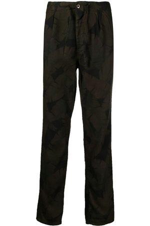 Incotex Pantalones con estampado de hojas