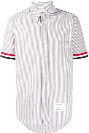 Thom Browne Camisa a rayas de tejido seersucker