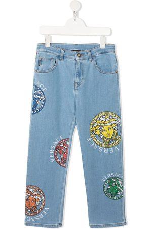 VERSACE Jeans rectos con estampado Medusa