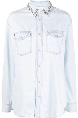 Golden Goose Camisa de mezclilla con detalles de cristales