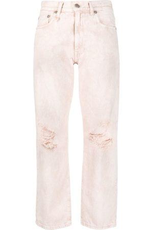R13 Jeans rectos con tiro alto