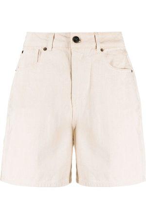 SEMICOUTURE Shorts de mezclilla con tiro alto