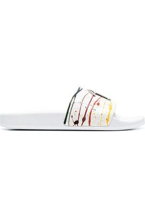 Giuseppe Zanotti Hombre Flip flops - Sandalias con motivo de salpicaduras de pintura