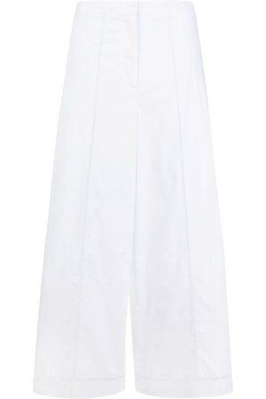 THEORY Pantalones capri anchos con bordado