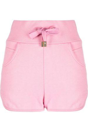 Balmain Shorts con logo en relieve