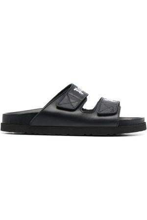 Palm Angels Logo print double strap sandals