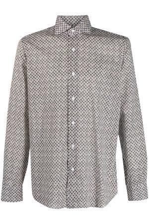 BARBA Camisa con estampado geométrico