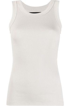 Styland Ribbed-knit vest top