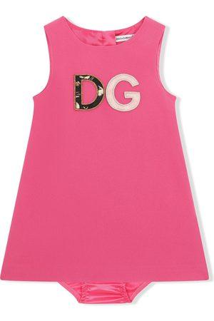 Dolce & Gabbana Vestido con motivo DG bordado