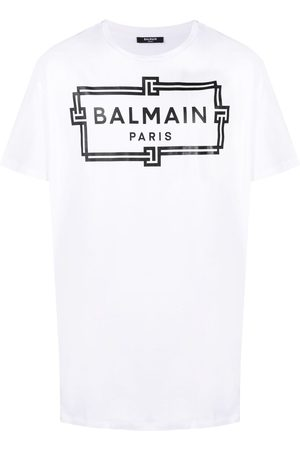 Balmain Playera oversize con logo estampado