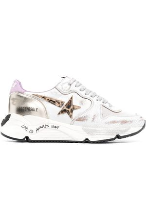 Golden Goose Mujer Tenis - Logo-patch lace-up sneakers