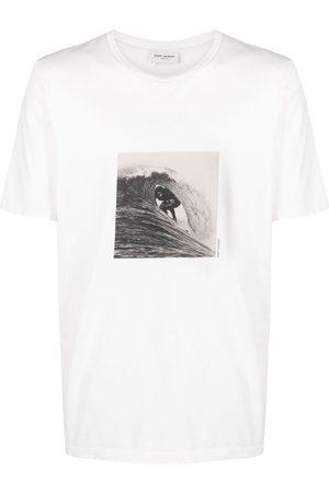 Saint Laurent Playera con estampado Surfer