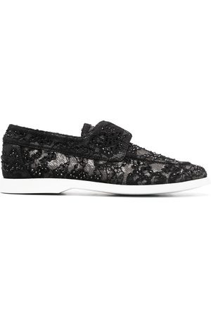 LE SILLA Lace embroidered loafers