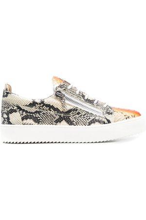 Giuseppe Zanotti Python-print low-top sneakers