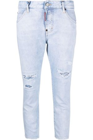 Dsquared2 Cropped distressed skinny jeans