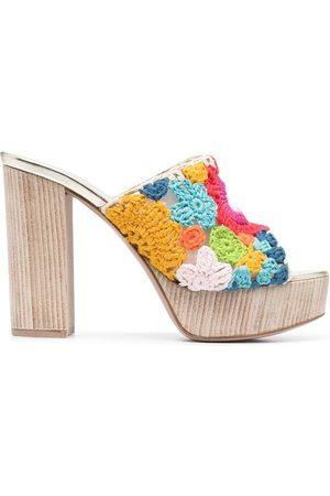 LE SILLA Embroidered mule sandals