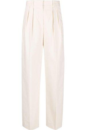 Tory Burch Box-pleat straight-leg trousers