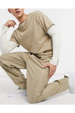 ASOS High waist slim trouser in camel