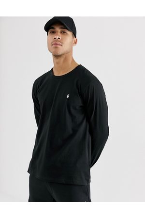 Polo Ralph Lauren Long sleeve lounge soft cotton top in black