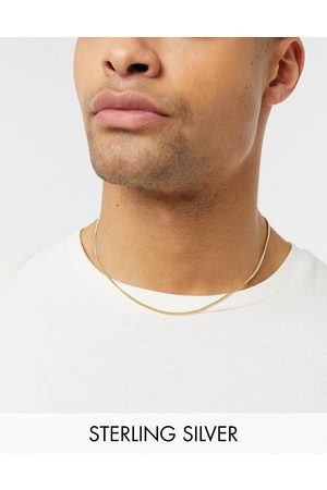 ASOS Short sterling silver neckchain with 14k gold plate