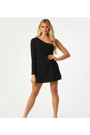Outrageous Fortune Exclusive pleated mini skort in black