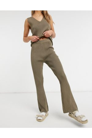 Vila Knitted wide leg trouser co