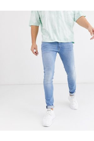 Jack & Jones Intelligence Liam skinny fit stretch jeans in light blue
