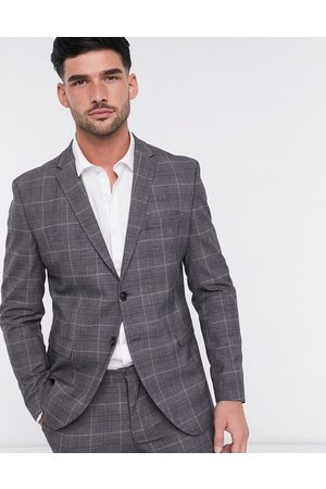 SELECTED Suit jacket in slim fit grey check