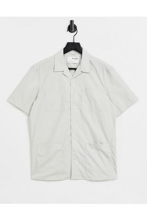 SELECTED Relaxed fit safari shirt in ecru