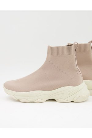 ASOS Knitted sock trainers in pink