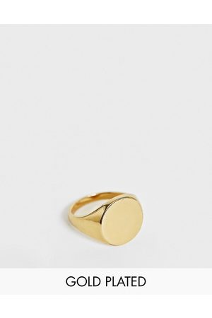 ASOS Signet ring with 14k gold plate