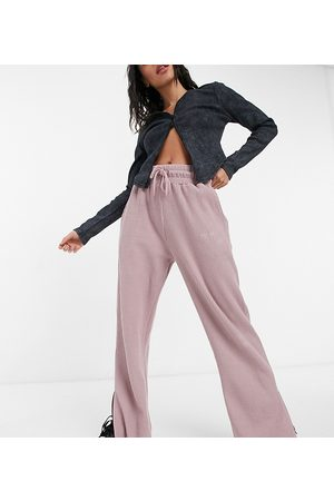 COLLUSION 90's dad waffle wide leg low rise jogger in purple
