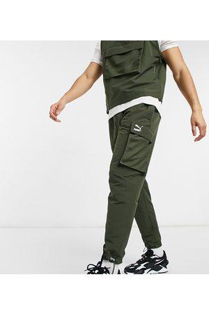 PUMA Avenir logo cargo pant in khaki exclusive to ASOS