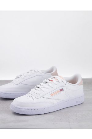 Reebok Club C 85 trainers in off white with beige heel tab