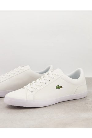 Lacoste Lerond Bl2 trainers in white canvas