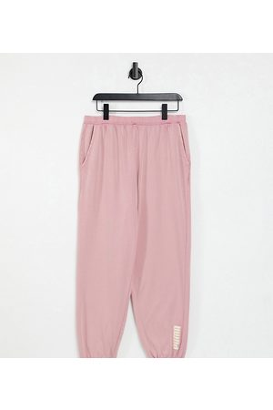 PUMA Oversized joggers in washed pink