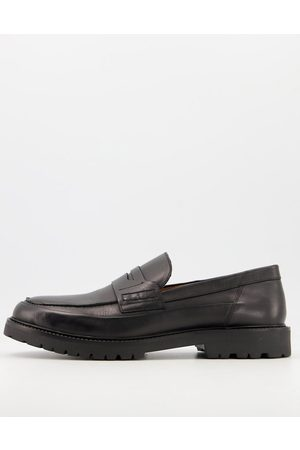 H by Hudson Brentwood seam chunky loafers in black
