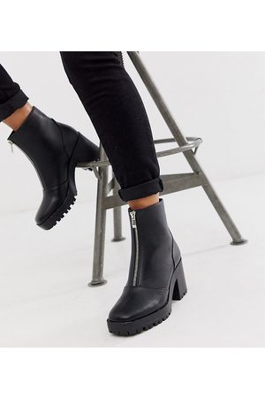 Raid Exclusive Janella chunky zip front boots in black