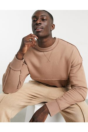 ASOS Reversible oversized sweatshirt with seam detail