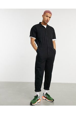 ASOS Denim boilersuit in washed black