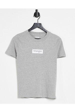 Wrangler Small logo tee in grey