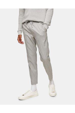 Topman Hombre Slim y skinny - Smart skinny jogger trousers in grey