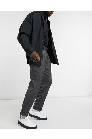 ASOS Oversized tapered smart trousers in check