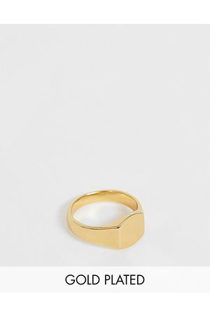 ASOS Pinky ring with 14k gold plate