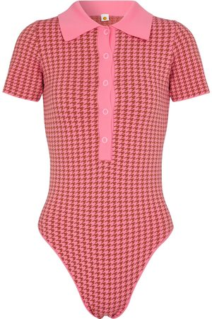 Tropic of C Mujer Body - Houndstooth jacquard knit bodysuit