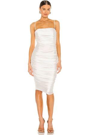 Nookie Vestido midi cooper en color talla L en - White. Talla L (también en XS, S, M).