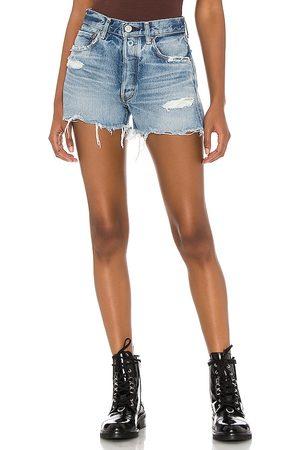 Moussy Mujer Shorts - Packard shorts en color talla 23 en - Blue. Talla 23 (también en 26, 24, 25, 27, 28, 29, 30).