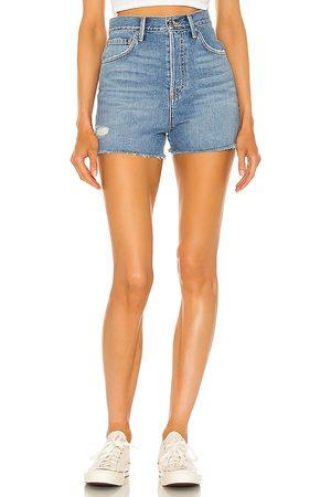 GRLFRND Mujer Shorts - Jules super high rise vintage short en color azul talla 23 en - Blue. Talla 23 (también en 26, 24, 25, 27, 28, 29, 30, 31, 32)